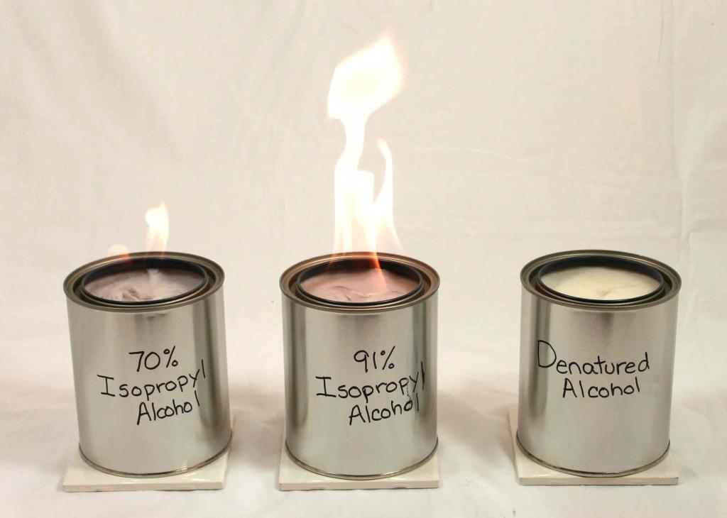 Homemade alcohol burners the provident prepper for Denatured ethanol fireplace