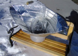 Solar Funnel Cooker - Copyright Your Family Ark LLC