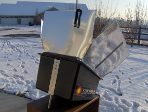 Adjusting Global Sun Oven - Copyright Your Family Ark LLC