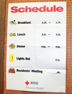 Red Cross Posted Schedule - Copyright Your Family Ark LLC