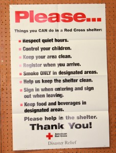 Red Cross Shelter Rules - Copyright Your Family Ark LLC