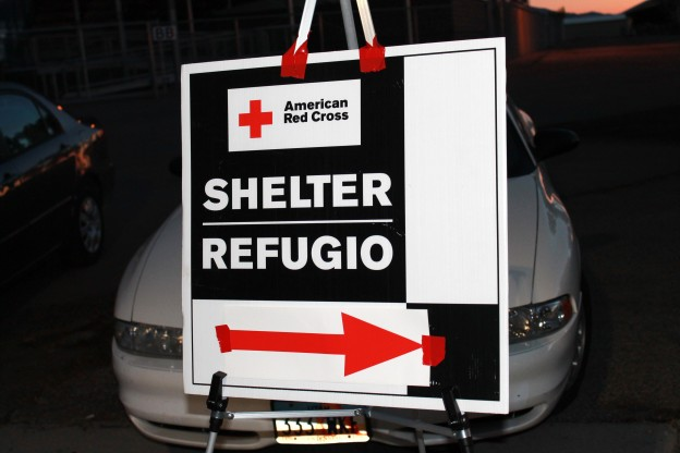 Red Cross Shelter sign - Copyright Your Family Ark LLC