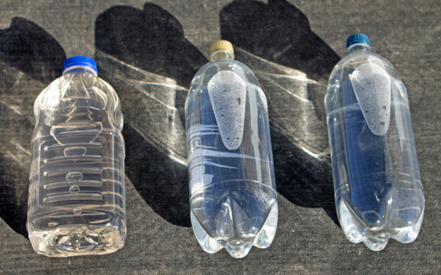 Solar Water Disinfection Using PET Plastic Bottles - Copyright Your Family Ark LLC