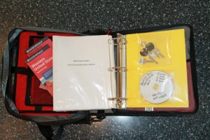 Emergency binder open - Copyright Your Family Ark LLC