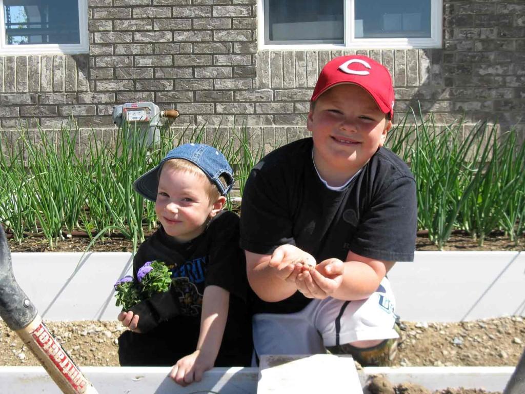 Boys gardening - Copyright Your Family Ark LLC