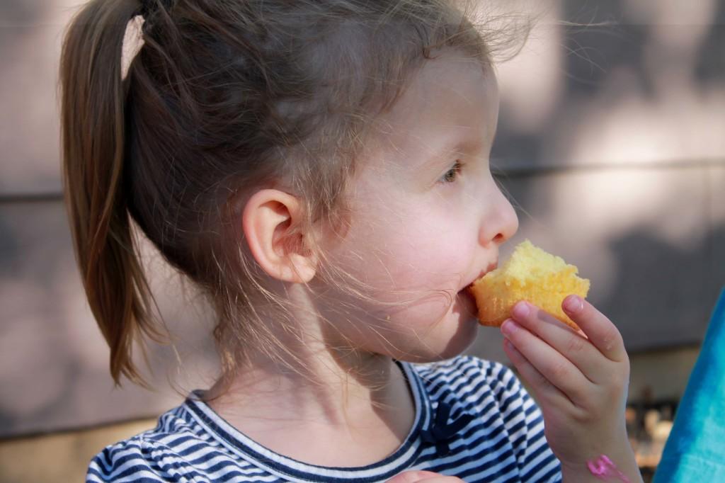 Girl Eating - Copyright Your Family Ark LLC