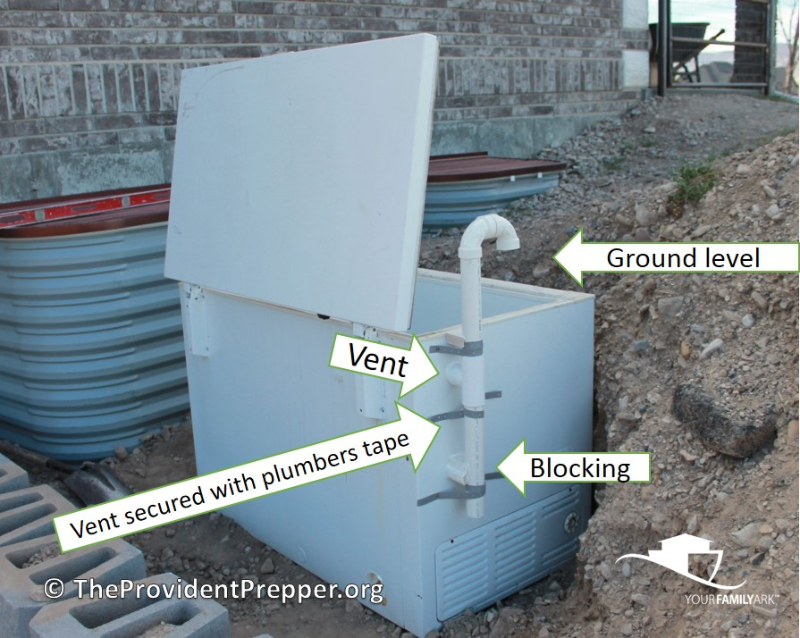 Buried freezer root cellar