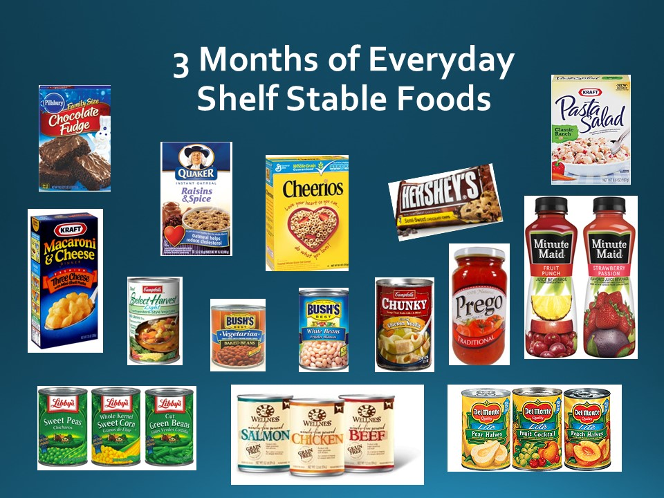 3 Month Supply of Everyday Foods
