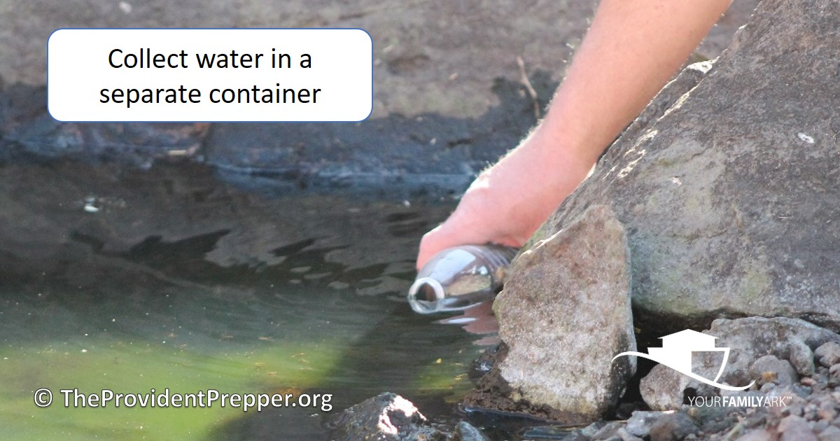 Collect Water in Separate Container