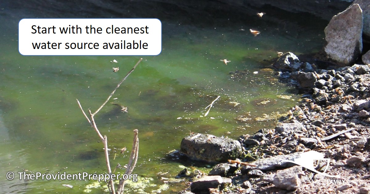 Start with Cleanest Water Available