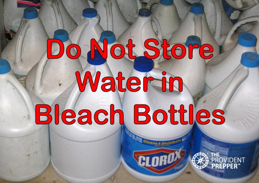 Bleach Bottles & How to Store Water for Emergency Preparedness | The Provident Prepper