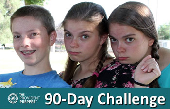 90-Day Challenge—Survive Solely on Food Storage and Garden