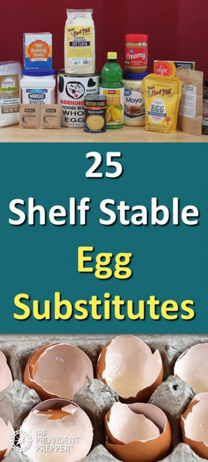 Pinterest 25 shelf stable egg substitutes