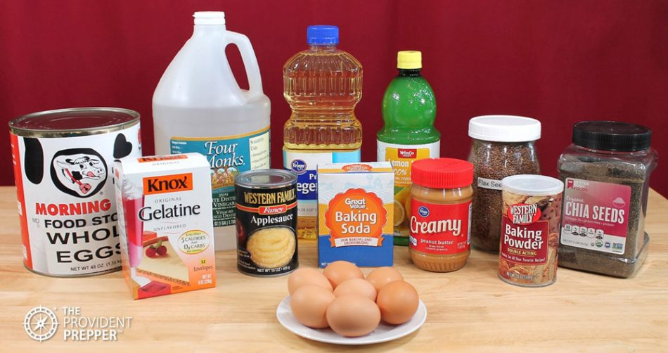Common Shelf Stable Egg Substitutes for Baking