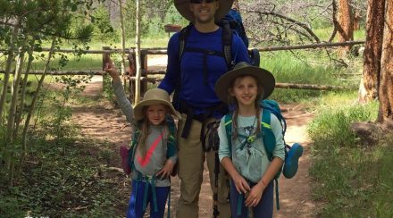 Daddy and Daughters Backpacking